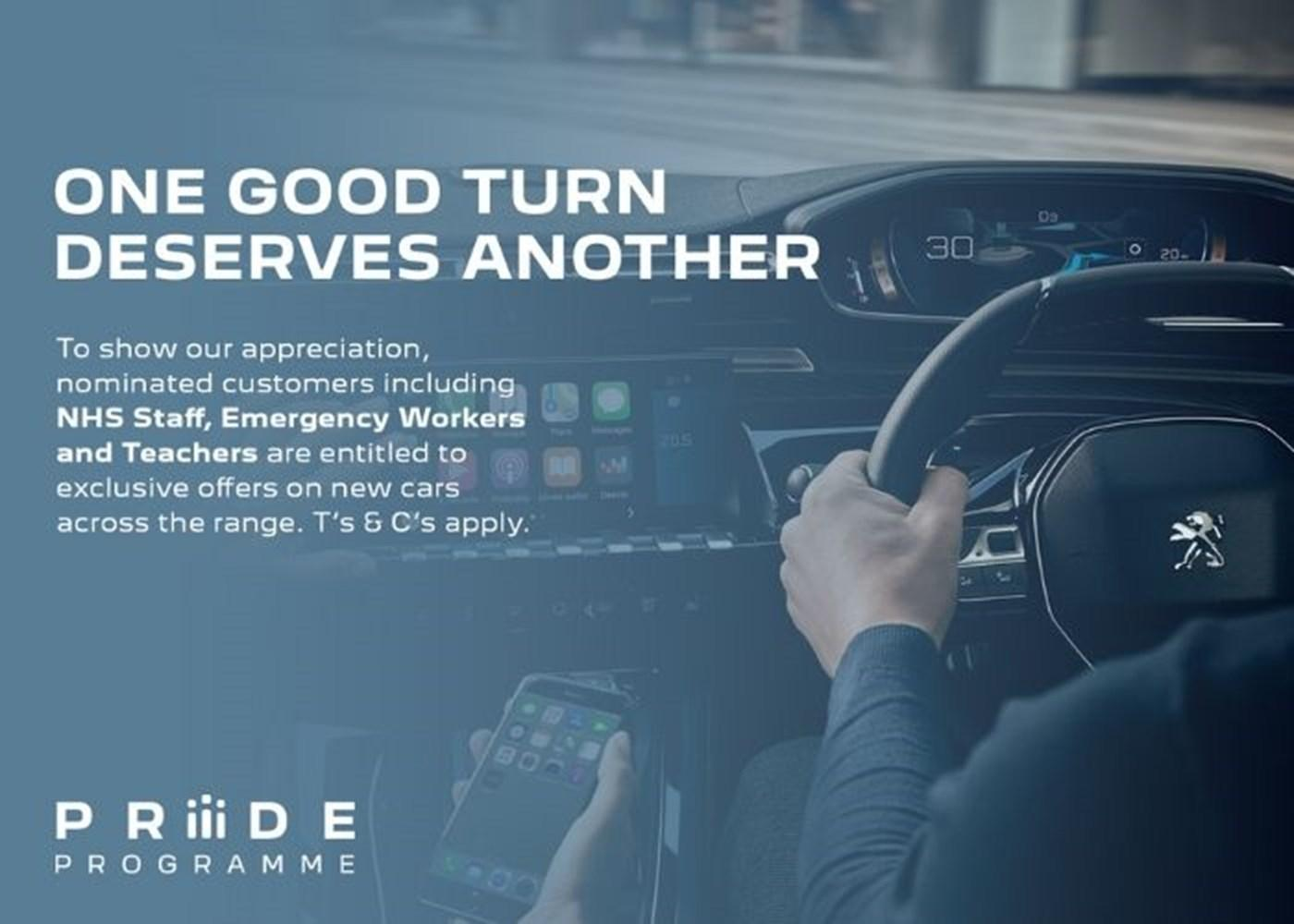 Peugeot Pride Scheme for NHS, Emergency Services, Teachers & Partners