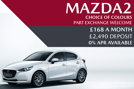 Mazda2 - Now £168 A Month With £2,490 Deposit And 0% Finance Available