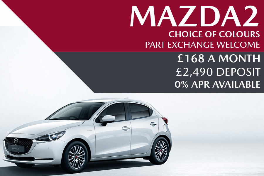 Mazda2 - Now £168 A Month With £2,490 Deposit And 0% Finance Options Also Available