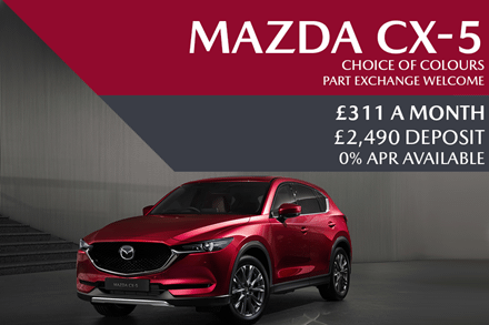 Mazda CX-5 SUV - Now £311 A Month | £2,490 Deposit And 0% Finance Available