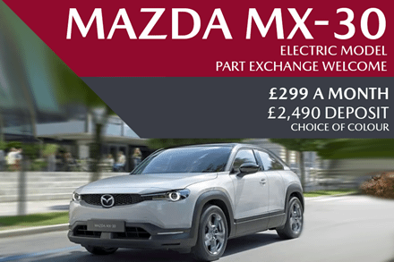 All-New Mazda MX-30 - Now Available For £299 A Month With £2,490 Deposit