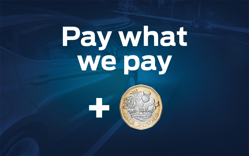 Pay what we pay, plus £1!