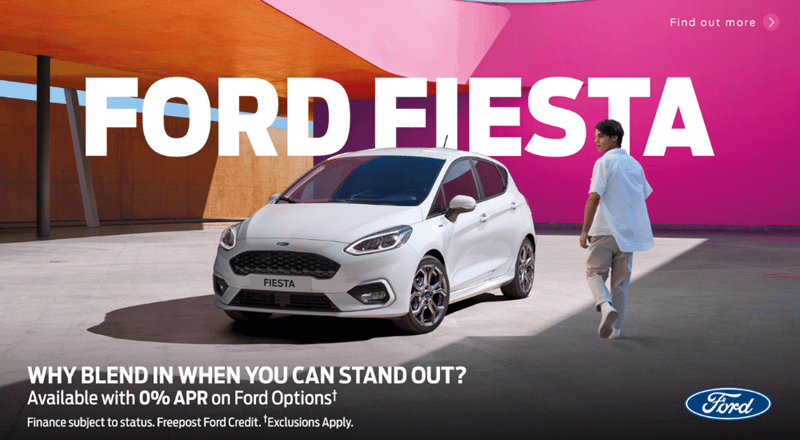 Ford Fiesta with 0% APR