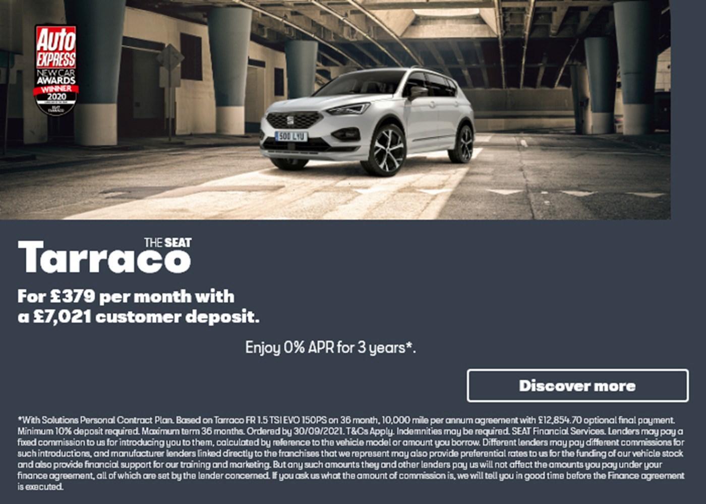 New SEAT Tarraco offer at Chippenham Motor Company