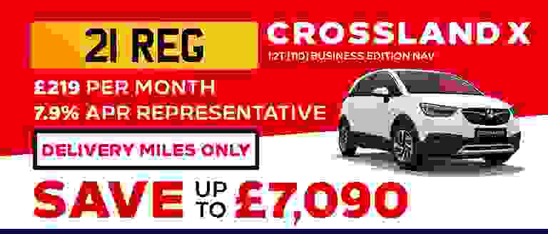 21-REG Crossland X Business Edition Nav With Delivery Miles Only