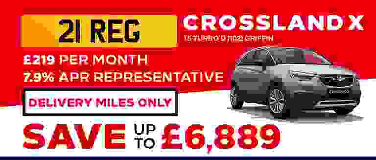 21-REG Crossland X Griffin With Delivery Miles Only