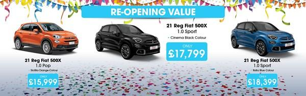 Fiat 500X Re-Opening Value