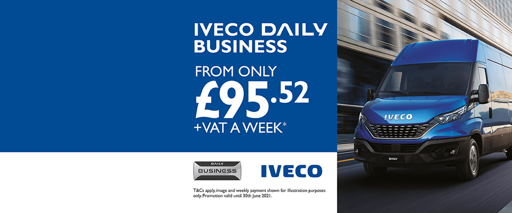 Iveco Daily Business From £92.52 +VAT per week
