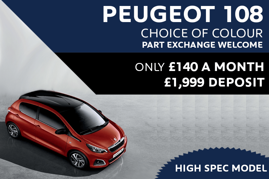 Peugeot 108 - Only £140 A Month With £1,999 Deposit