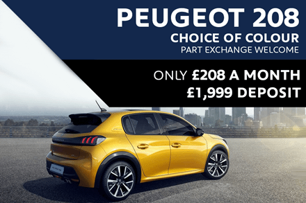 All-New Peugeot 208 For £208 A Month