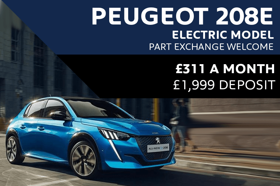Peugeot e208 From £311 A Month