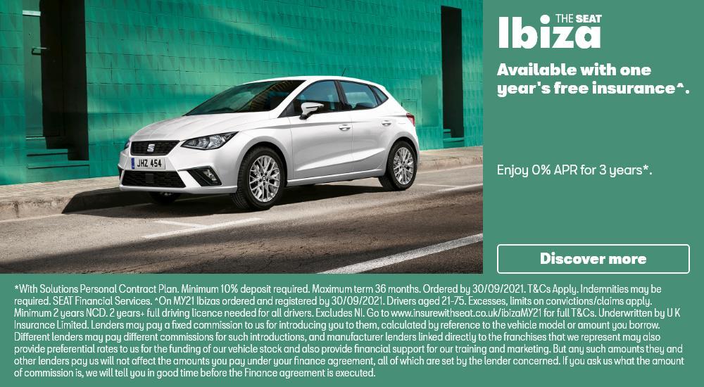 SEAT Ibiza with Free Insurance