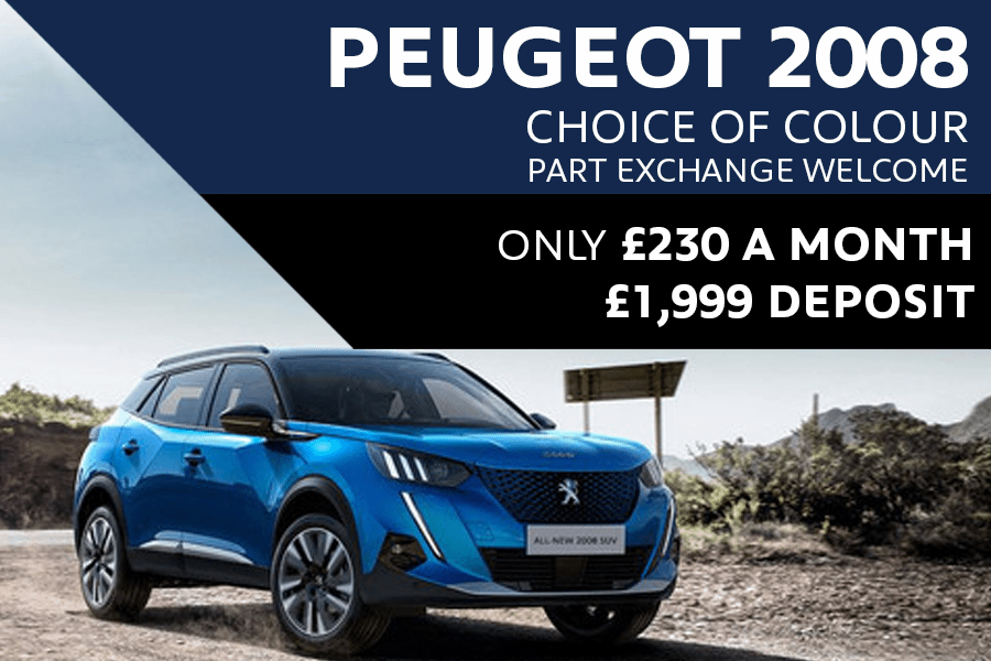 Peugeot 2008 SUV - Only £230 A Month With £1,999 Deposit