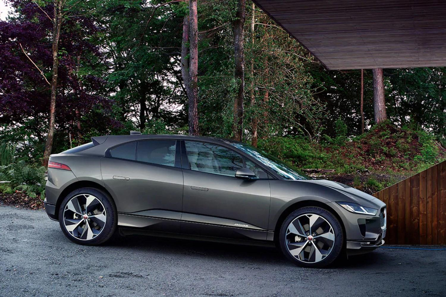 Grey Jaguar I-Pace side profile