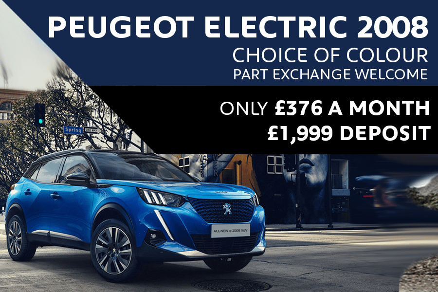 Peugeot e2008 SUV - Only £376 A Month With £1,999 Deposit