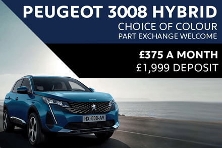 Peugeot 3008 HYBRID SUV - Only £375 A Month With £1,999 Deposit