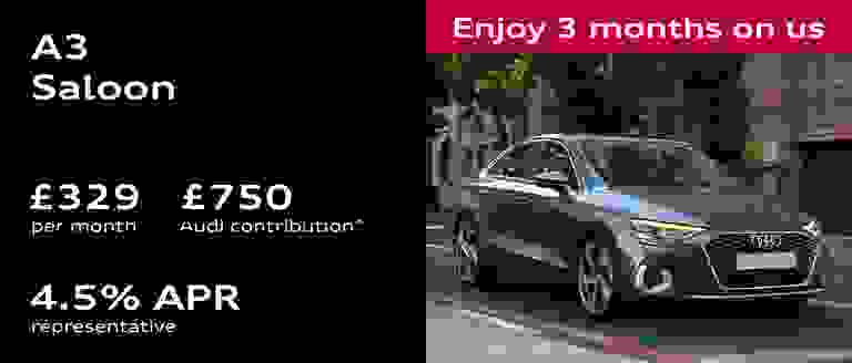 New Audi A3 Saloon Finance Offer