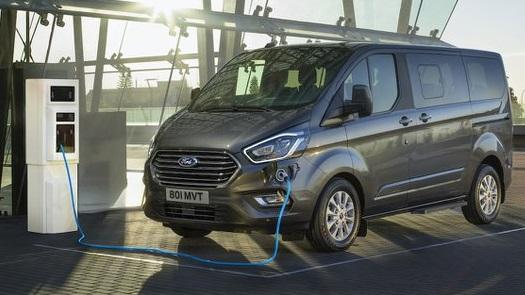 Ford Transit Custom on charge