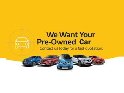 Renault - We Want Your Pre-owned Cars