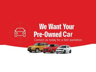 Suzuki - We Want Your Pre-owned Cars