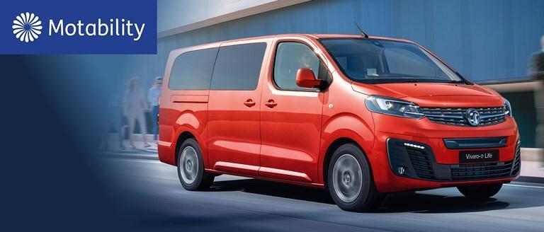 New Vauxhall Vivaro-e Life Motability Offers