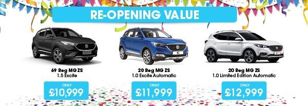 MG Re-Opening Value