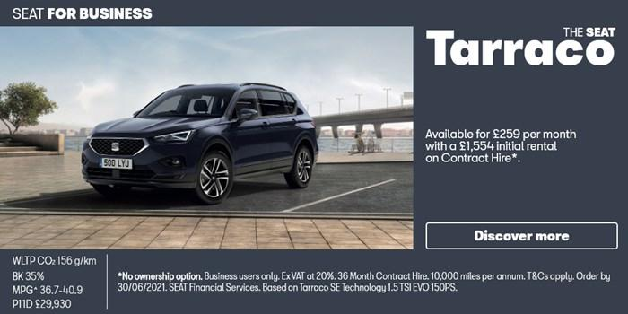 SEAT Tarraco from £259 per month for Business Users