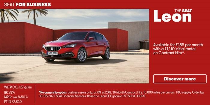 SEAT Leon from £185 per month for Business Users