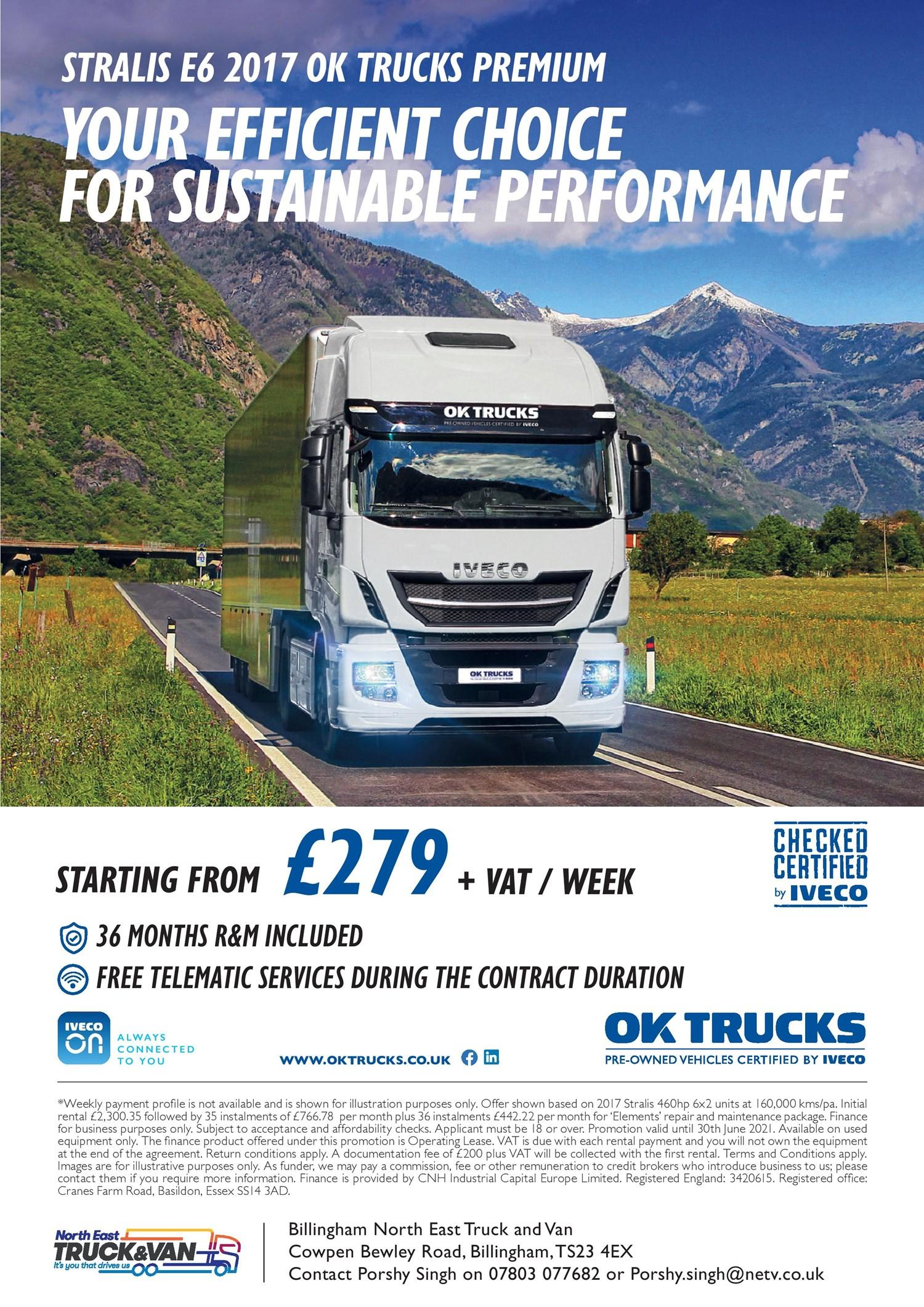 IVECO OK Trucks - £279 a week