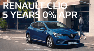 Renault Clio Range 5 Years 0% APR