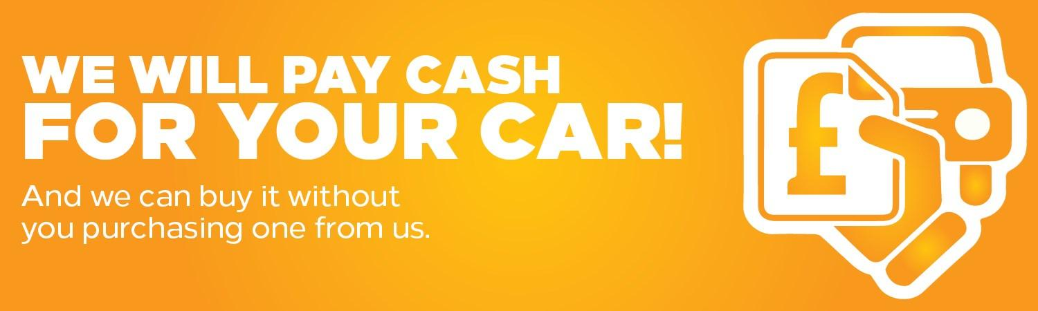 We will pay cash for your car
