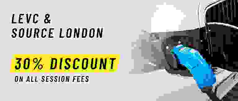30% Discount On All Session Fees With LEVC & Source London