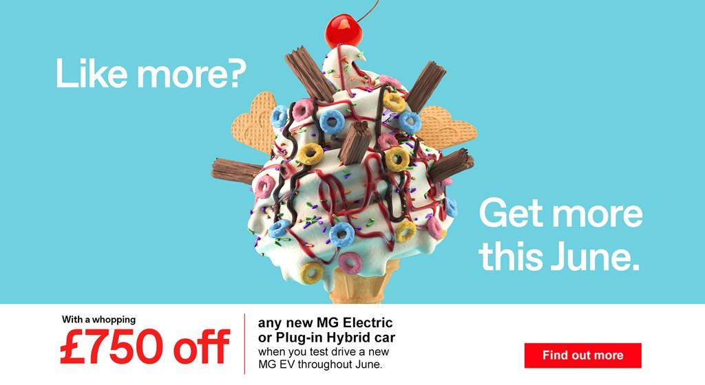 £750 off a new MG Electric or Plug-in Hybrid car when you book a test drive