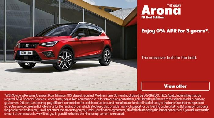 SEAT Arona FR Red Edition with 0% APR