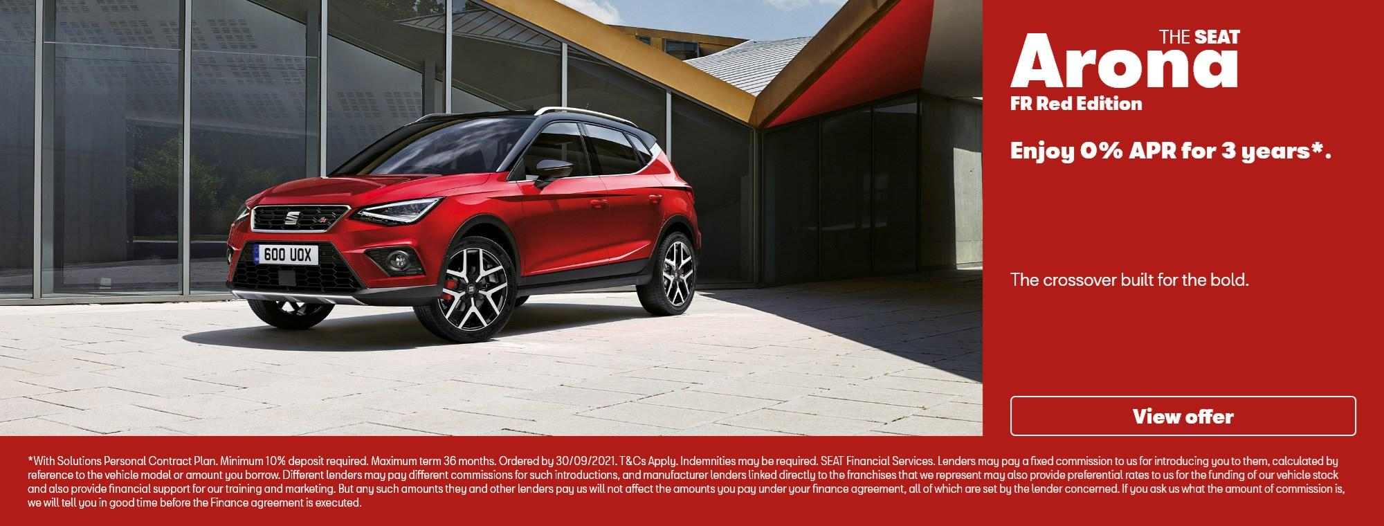SEAT Arona FR Red Edition with offer