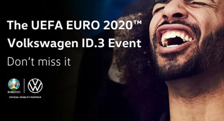 The UEFA EURO 2020™ Volkswagen ID.3 Event