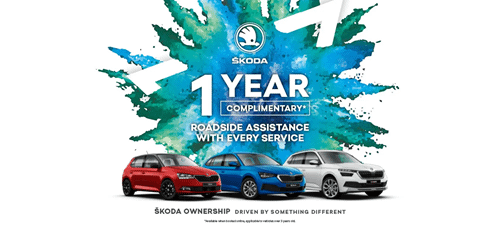 ŠKODA - 1 Year Complimentary Roadside Assistance