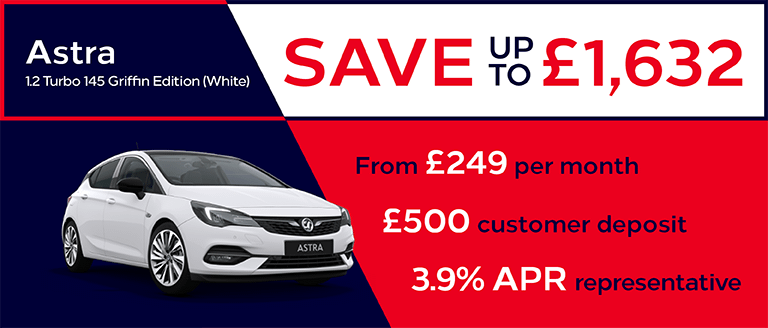 Vauxhall Astra Griffin Edition Finance Offer