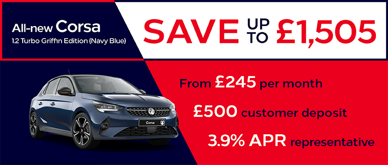 Vauxhall Corsa Griffin Edition Finance Offer