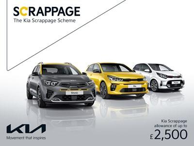 The Kia Scrappage Scheme up to £2,500 Off