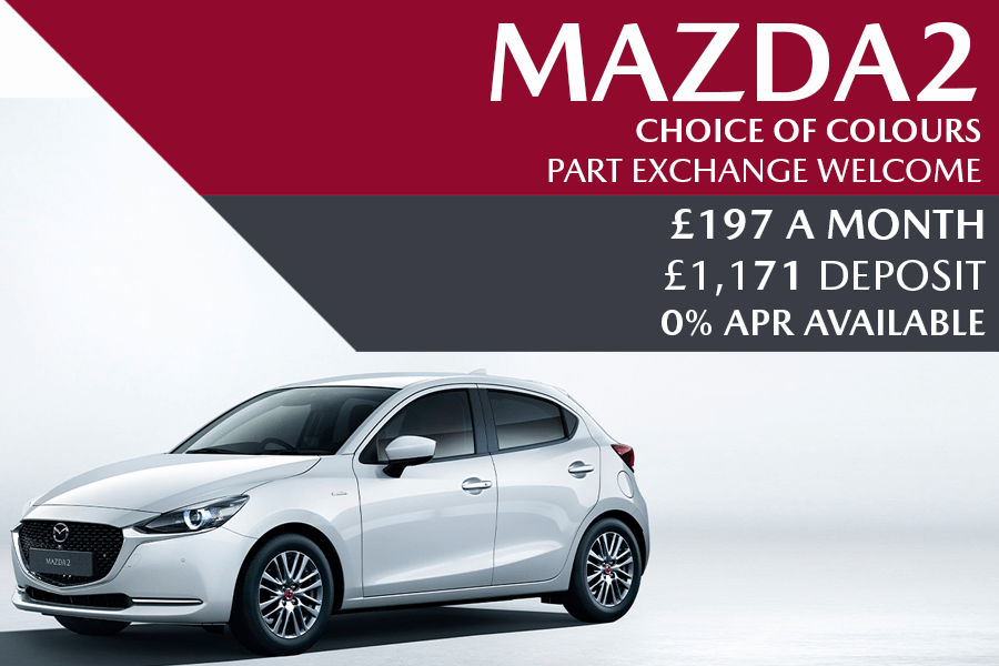 Mazda2 - Now £197 A Month With £1,171 Deposit And 0% Finance Available