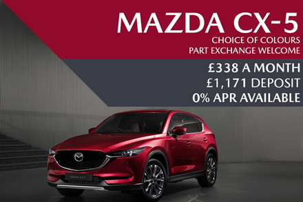 Mazda CX-5 SUV - Now £338 A Month | £1,171 Deposit And 0% Finance Options Available