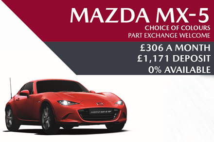 Mazda MX-5 - Now £306 A Month | £1,171 Deposit And 0% Finance Also Available