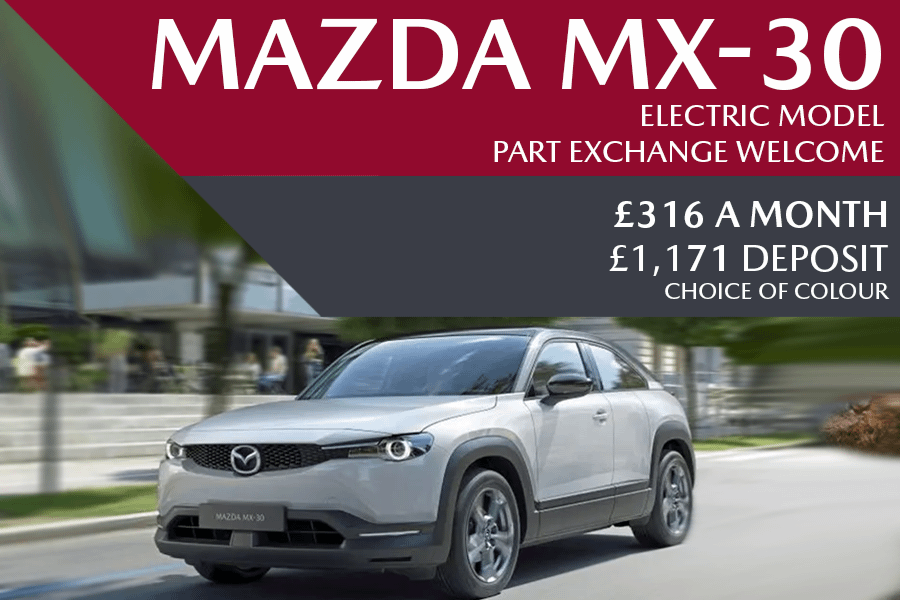 All-New Mazda MX-30 - Now Available For £316 A Month With £1,171 Deposit - 0% Finance Also Available