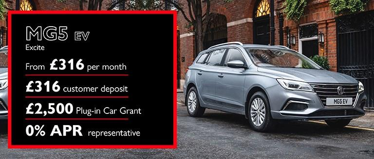 MG5 EV Finance Offer