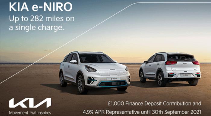 Kia e-Niro with £1000 deposit contribution