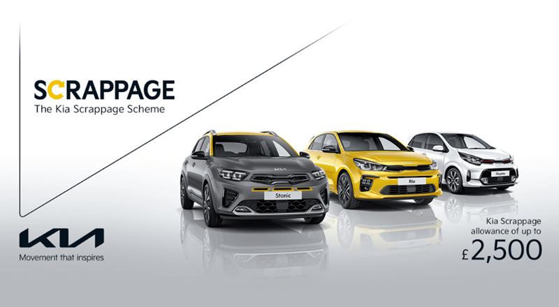 Kia Scrappage Scheme - Get up to £2,500 for your old car