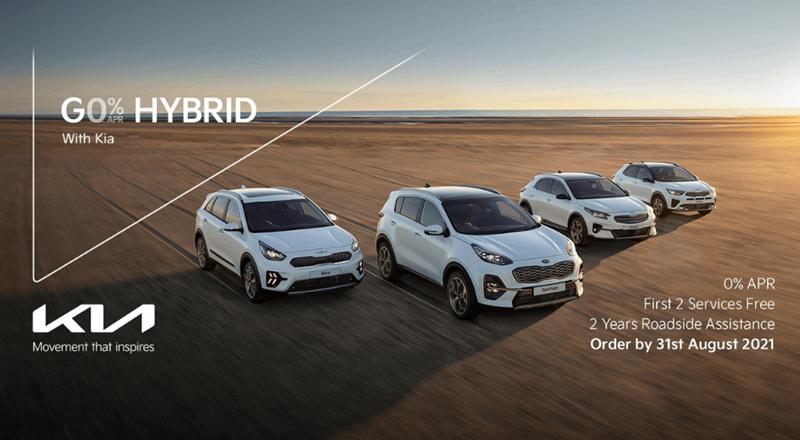 0% on KIA Hybrid vehicles until 31st August 2021