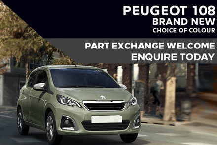 Peugeot 108 - Only £158 A Month With £1,500 Deposit