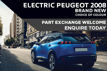Electric Peugeot 2008 SUV - Only £279 A Month With £3,065 Initial Rental